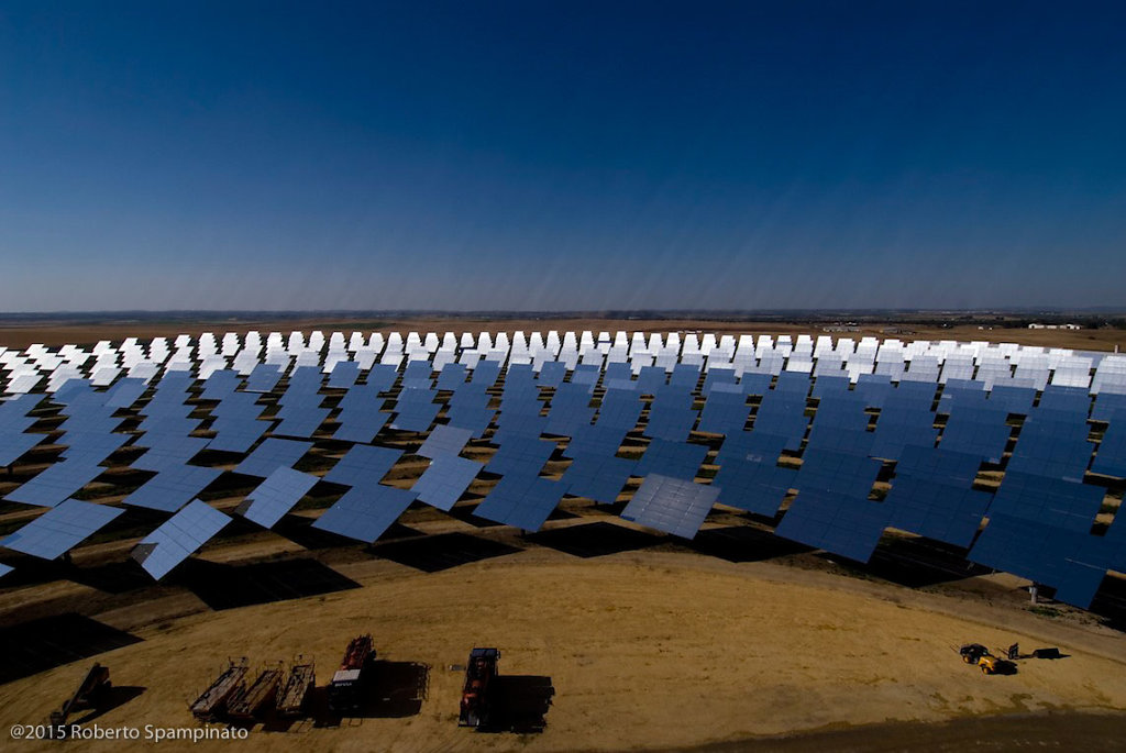 PS10 is the world's first commercial solar tower power plant.