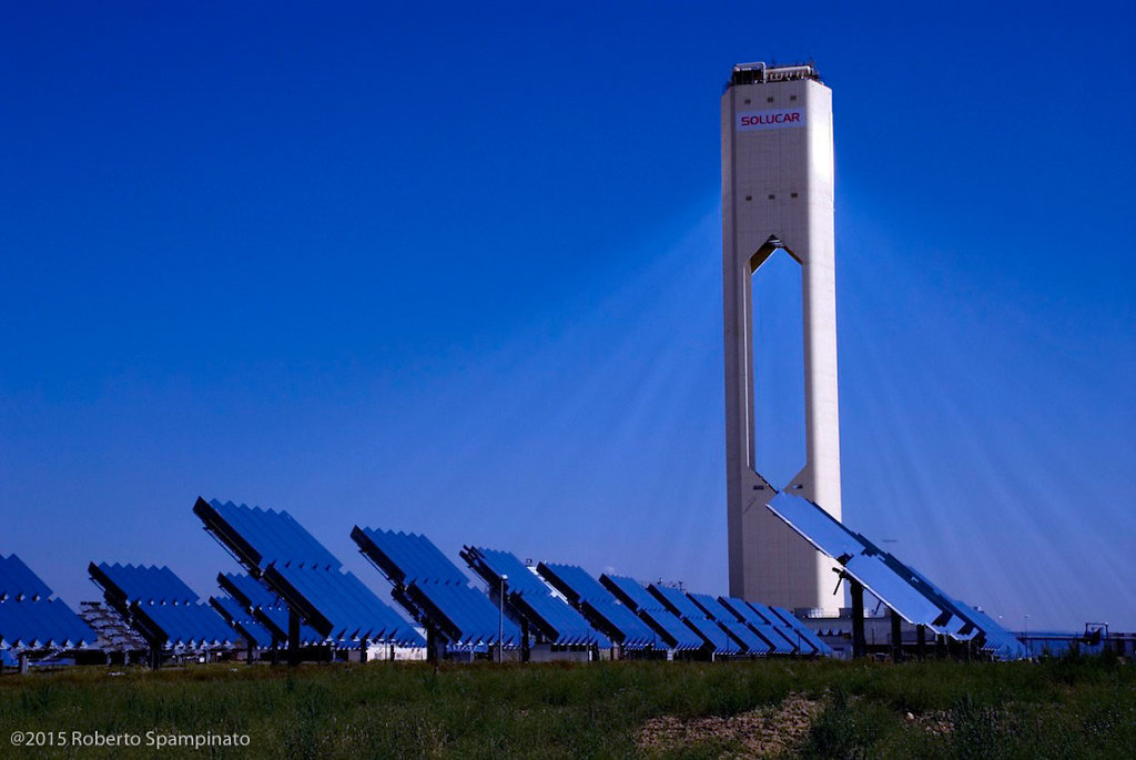 Spain, PS10 is the world's first commercial solar tower power plant.